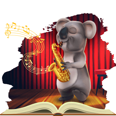 Kev the koala from Fair Go is celebrating international Jazz Day